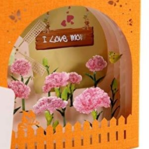Independent Party Supplies - 3D I Love Mom Pop-Up Greeting Card, Laser Cut 🌸